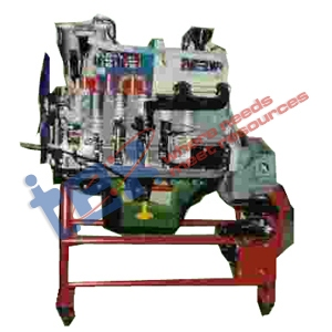 Cut Section Model of Six Cylinder Four Stroke Diesel Engine Working